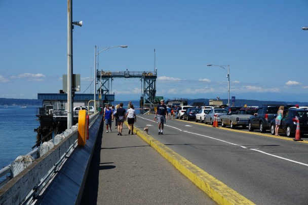 Waiting for the ferry at Fauntleroy terminal