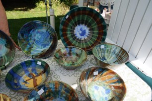 Pottery by a local artist at the Farmer's Market