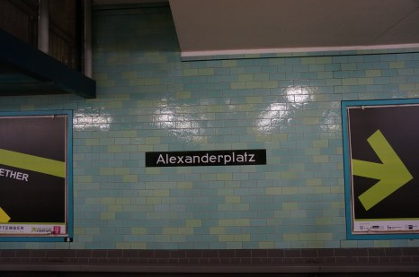 Alexanderplatz, one of the largest and busiest stations