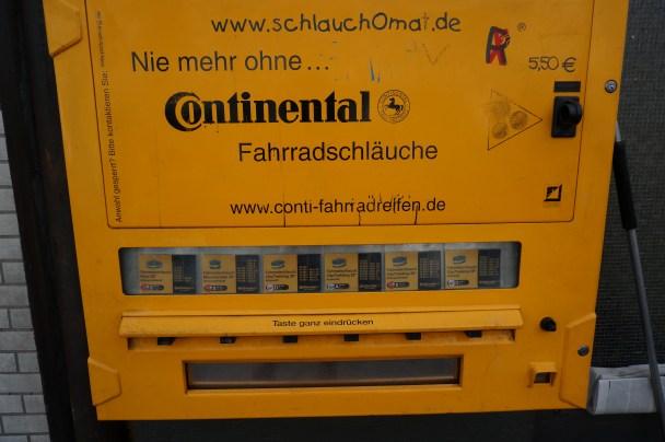 Bicycle innertube vending machine - Cologne