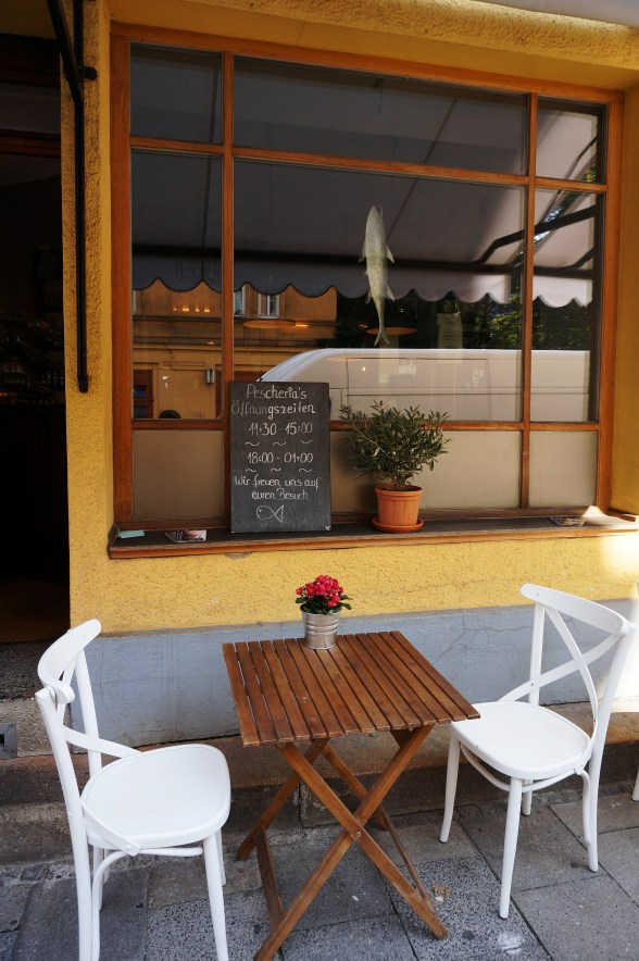 Alfresco table for two at Pescheria