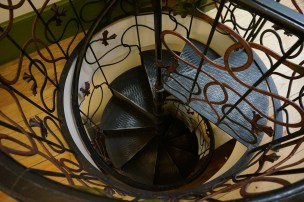 Staircase in Aveiro's Art Nouveau museum