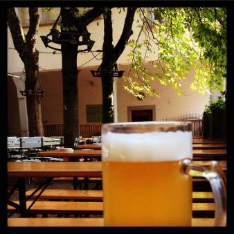 After the market, a great brew at Feierling's beer garden