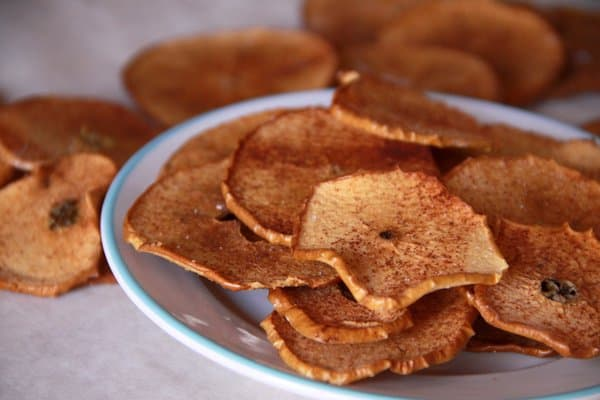 Baked Apple Chips With Cinnamon Sugar Foodlets