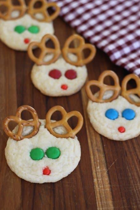 Reindeer Snickerdoodles Simple Christmas Cookies Kids Can Make