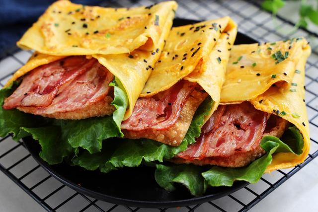 特色早餐饼,食材丰富颜值超高,比手抓饼还要好吃