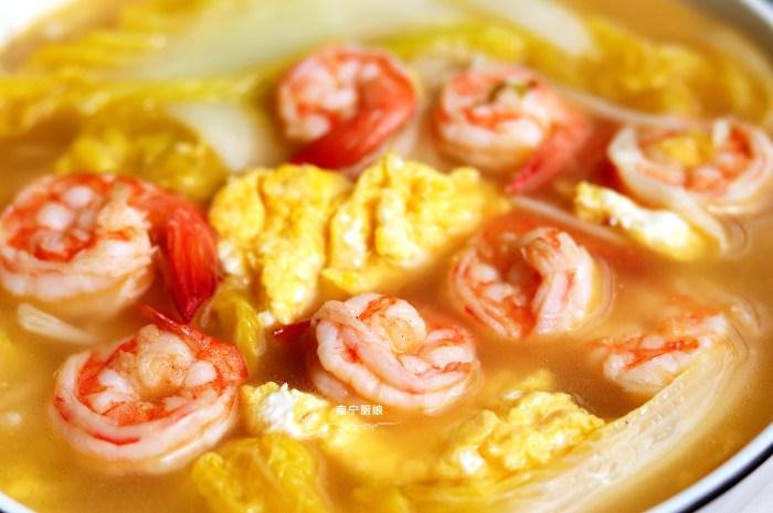 把蝦仁搭配娃娃菜一鍋煮,沒想到這麼鮮美