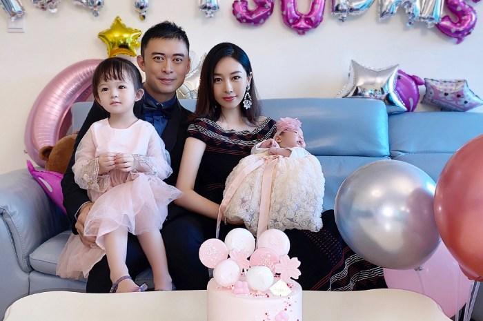 樊少皇二胎喜得小女兒,倆女兒穿公主裙一家四口三美女