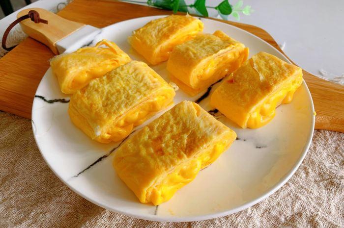 4個雞蛋半杯牛奶,教你做奶香濃郁爆漿厚蛋燒