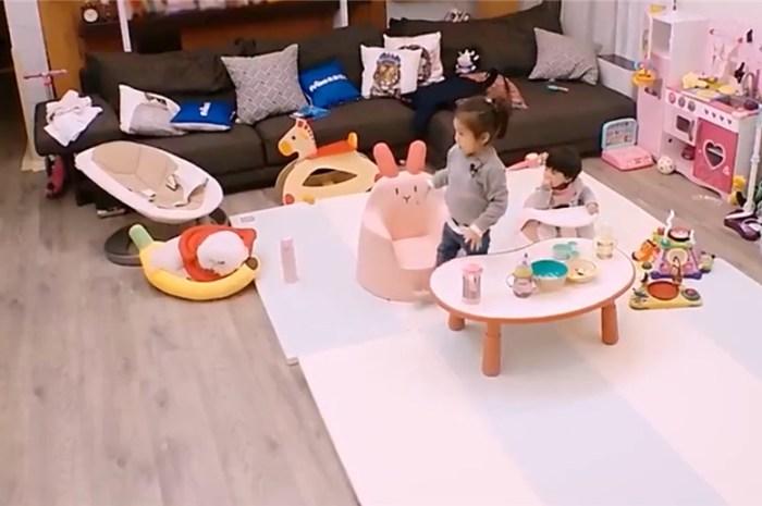賈靜雯和修傑楷的幸福之家,客廳無隔斷更寬敞鋪地毯打造休閒區