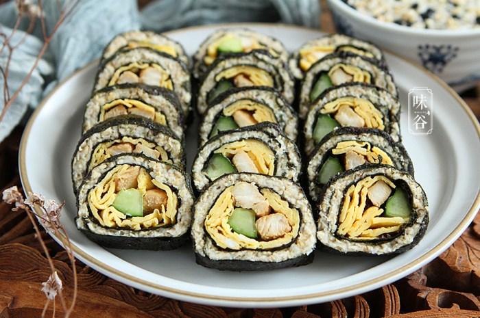 在家自製無米壽司,營養飽腹低熱量
