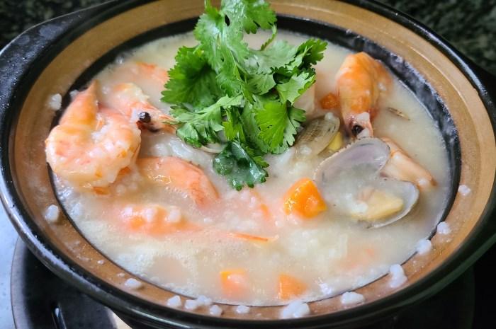 很好喝的海鲜粥,9分钟就能熬得又浓又稠,味道鲜美