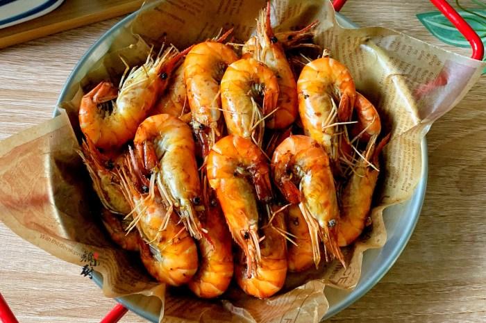 大虾新吃法,不加一滴油,一出锅香到口水都流出来了