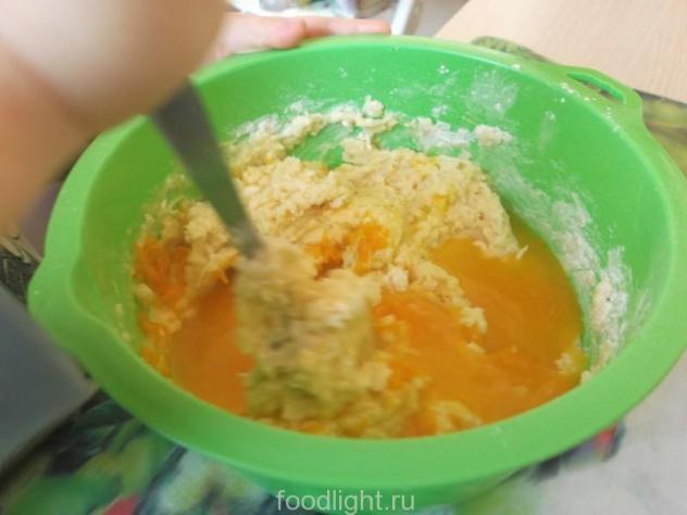 тесто и апельсиновый сок