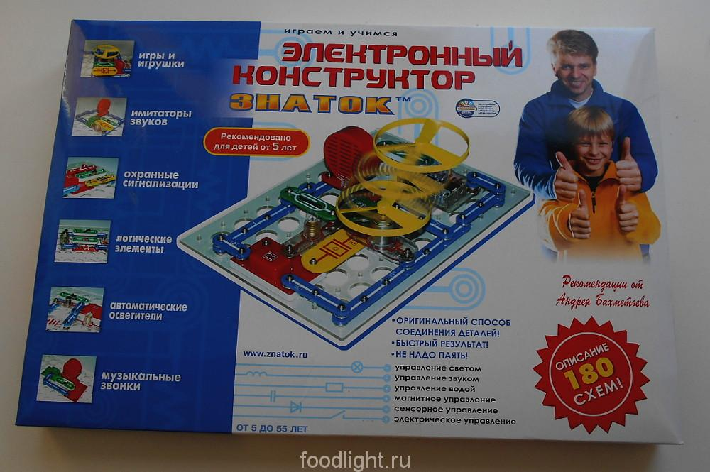 Электронный конструктор Знаток (180 схем)