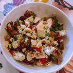 Салат с запечеными баклажанами и творожным сыром