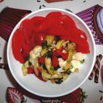 Салат с запеченными кабачками