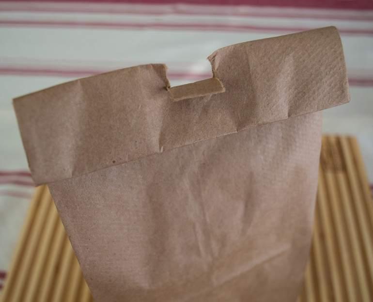 Bag for popping homemade microwave popcorn.