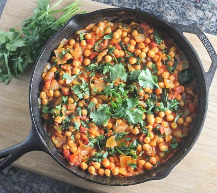 This quick and delicious weeknight skillet dinner is packed with protein and veggies. It's also vegan and gluten free.