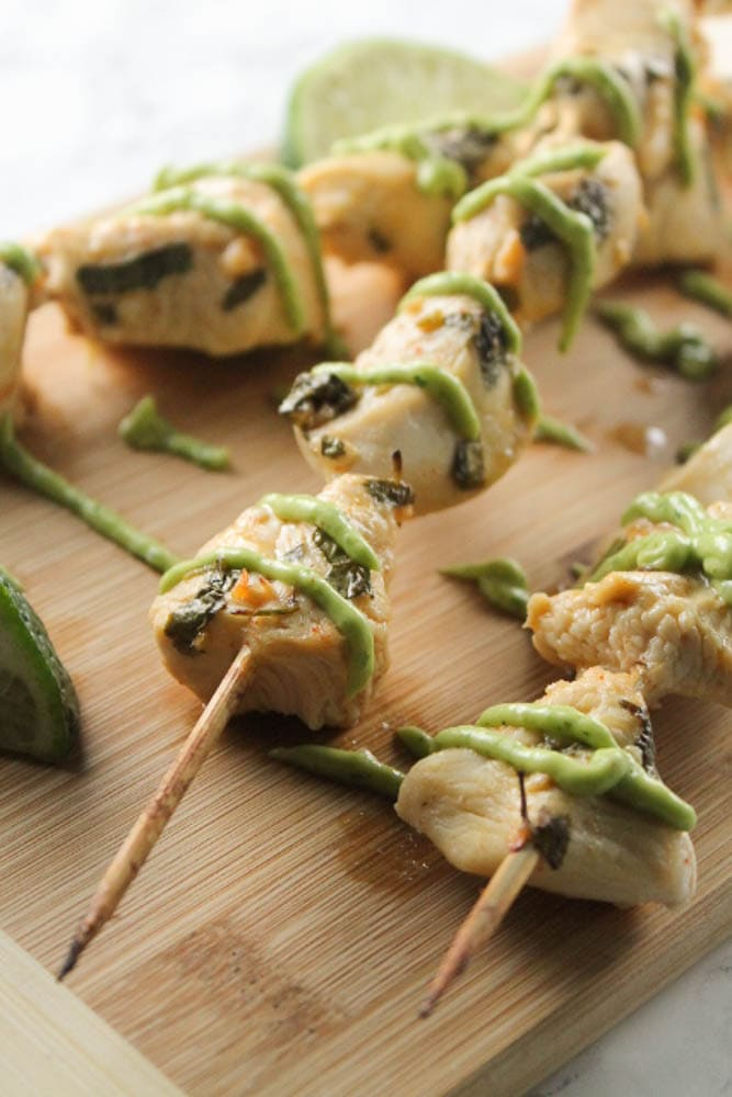 Cook these chicken kabobs in the oven or on the grill, and enjoy a quick, delicious, and healthy weeknight dinner.