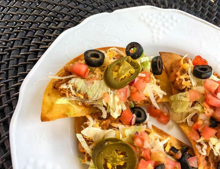 Crisp, fresh and spicy bean and chorizo tostadas combine all your favorite Mexican flavors!