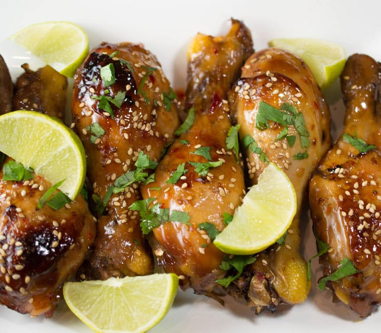 Your new favorite easy crock-pot meal: Sweet Chili Chicken Drumsticks