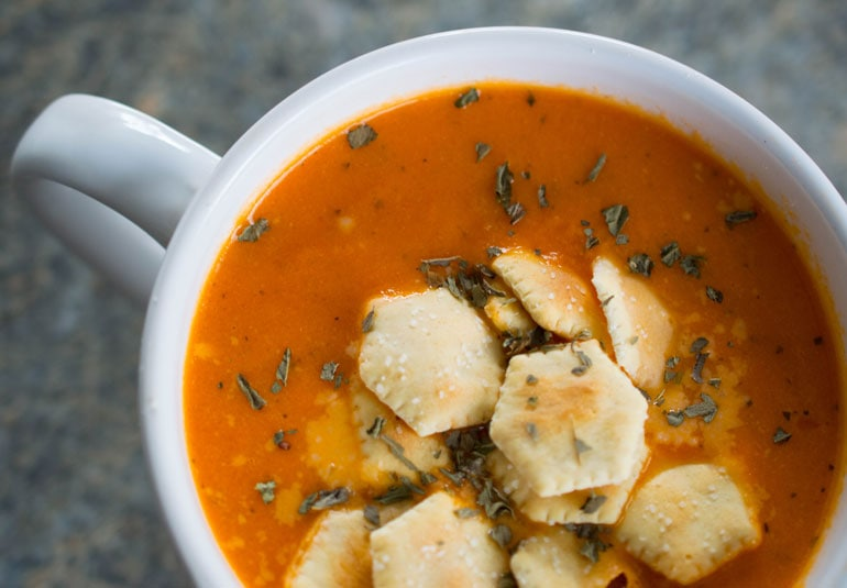 Creamy Tomato Basil Soup for the Instant Pot