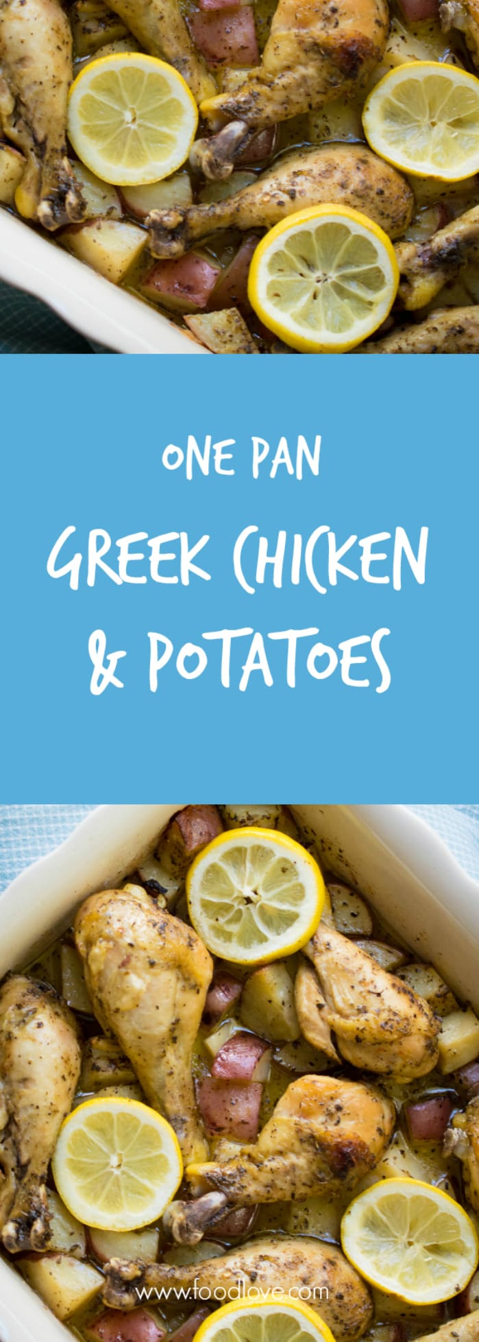 Tastes so good you'll want to drink the sauce straight! One pan Greek lemon chicken and potatoes.
