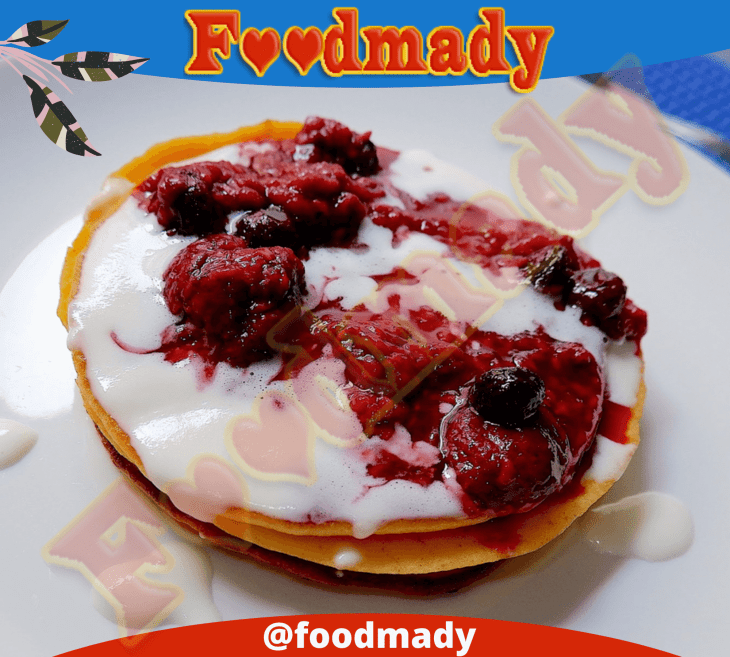 Cream Cheese Pancake with Berries Compote