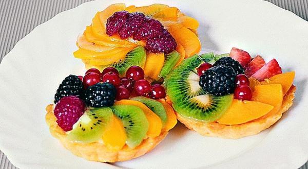Песочные корзиночки с фруктами   Вкусные рецепты с фото ...