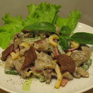 Салат с говядиной и стручковой фасолью | Вкусные рецепты с ...