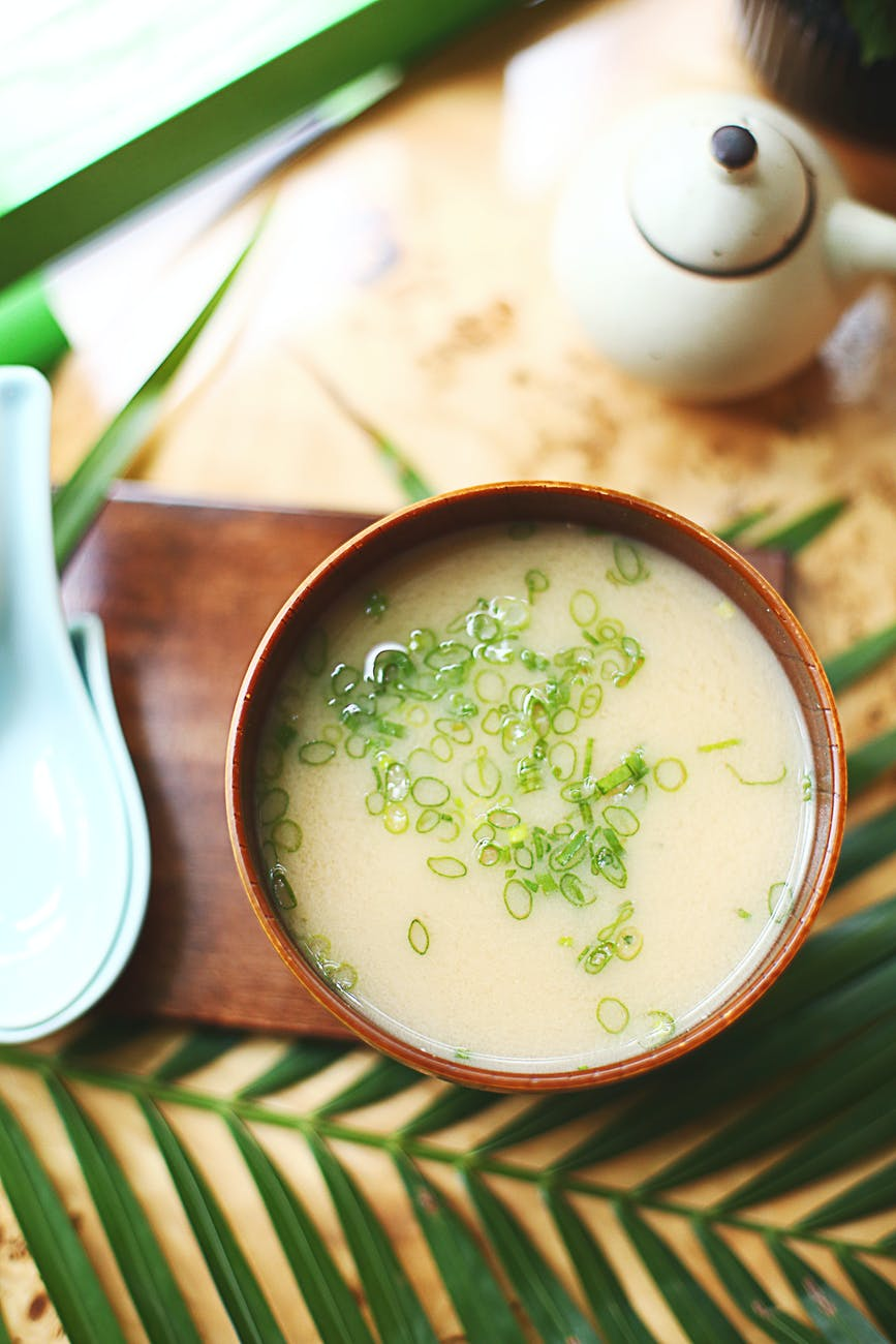 a mouth watery of a creamy soup