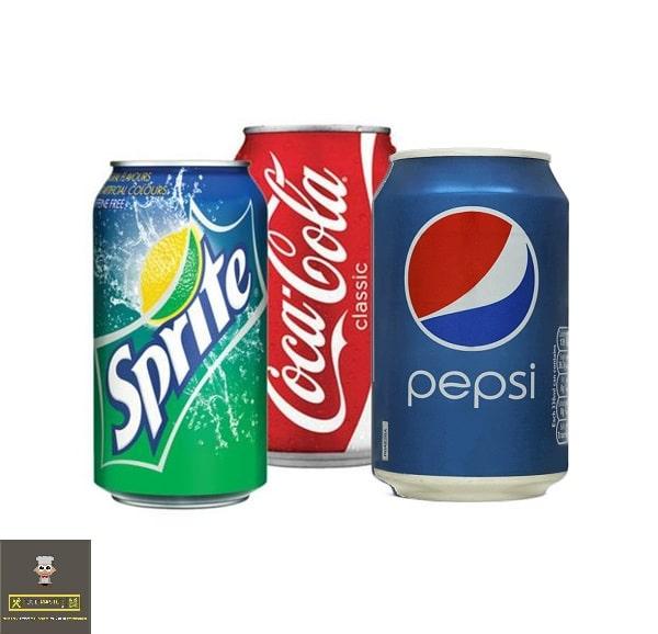 tin soft drink