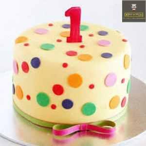 customized 1st birthday cake
