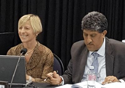 Dr Zoë Harcombe and advocate Ravin 'Rocky' Ramdass
