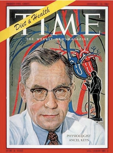 Dr Ancel Keys on the cover of Time magazine, 1961