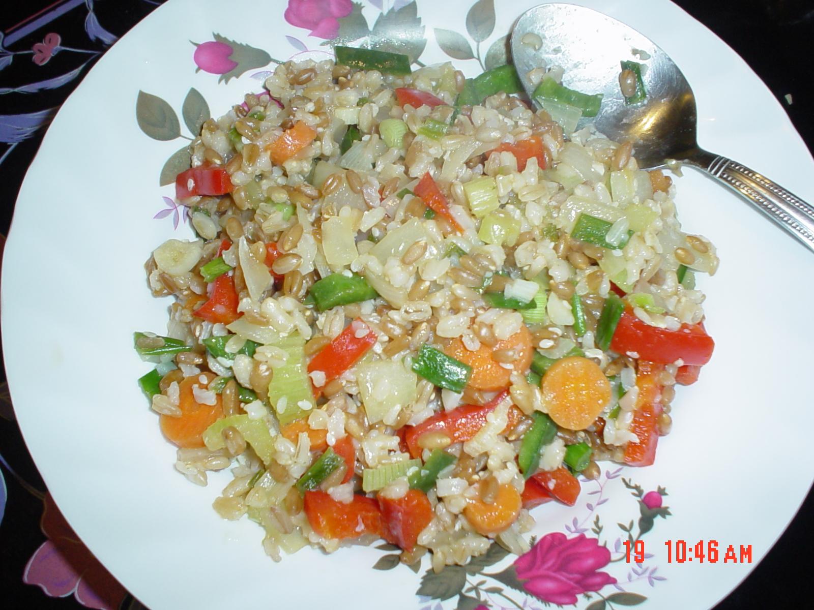 A kashi stir-fry. Season to taste.