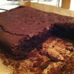 Chocolate Brownie Close Up