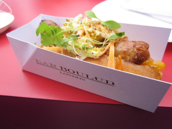 Hot Dog from Bar Boulud at Taste of London - www.foodnerd4life.com