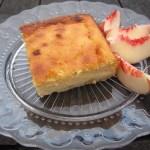 Ricotta Cake with White Peaches