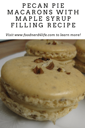Pecan Pie Macarons with Maple Syrup Filling Recipe Pin