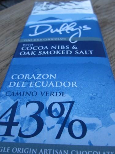 Duffy's Corazon Del Ecuador With Nibs, Oak Smoked Sea Salt Chocolate - www.foodnerd4life.com