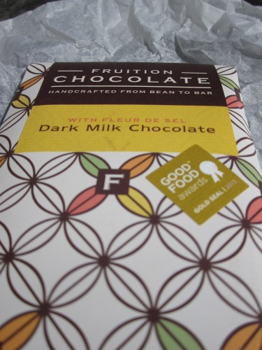 Fruition Dark Milk Chocolate With Fleur De Sel in Wrapper - www.foodnerd4life.com