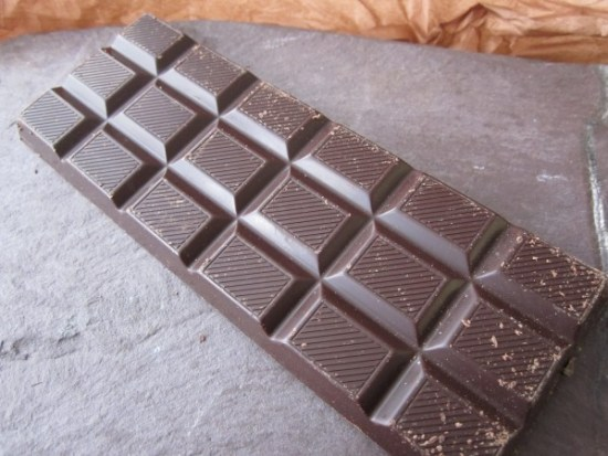 Hoja Verde 80% Ecuador Chocolate Bar Unwrapped - www.foodnerd4life.com