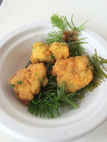 The Clove Club– Buttermilk Fried Chicken & Pine Salt at Taste of London - www.foodnerd4life.com