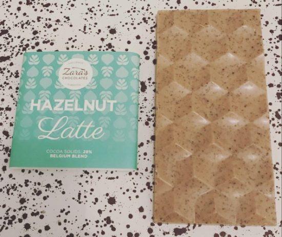 Zaras Chocolates Hazelnut Latte Chocolate Bar - www.foodnerd4life.com