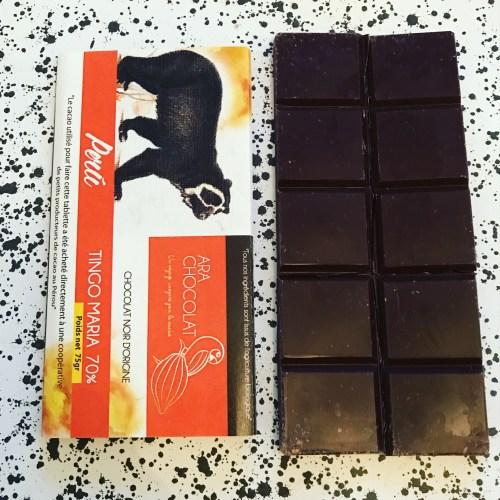 Ara Chocolat Tingo Maria 70% Chocolate BAr - www.foodnerd4life.com