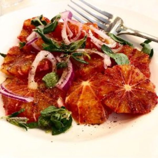 Blood Orange Salad with Fresh Oregano and Red Onion at Bocca Di Lupo, London