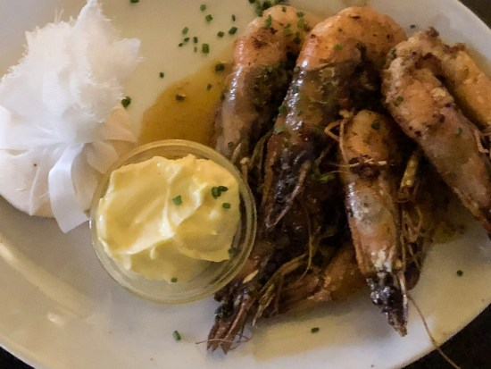 Tiger Prawns, in Garlic and Patis Butter with Aioli Dip at Hotel du Vin, Bristol