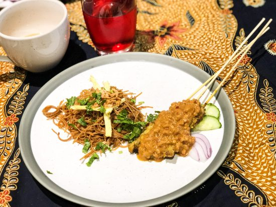 Chicken Satay with Peanut Sauce and Bihun Gorreng at Malaysian Kitchen Afternoon Tea - www.foodnerd4life.com